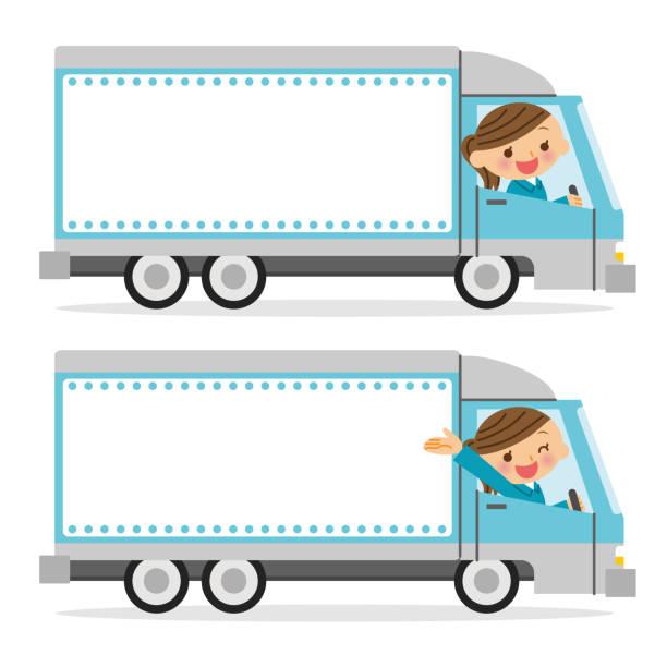 トラック ドライバーとコピー スペース。 - 新居点のイラスト素材/クリップアート素材/マンガ素材/アイコン素材