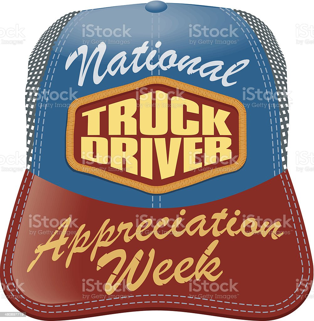 Conductor de camión con dirección C - ilustración de arte vectorial
