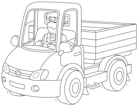 Ilustración De Conductor De Camión Del Montar A Caballo Y