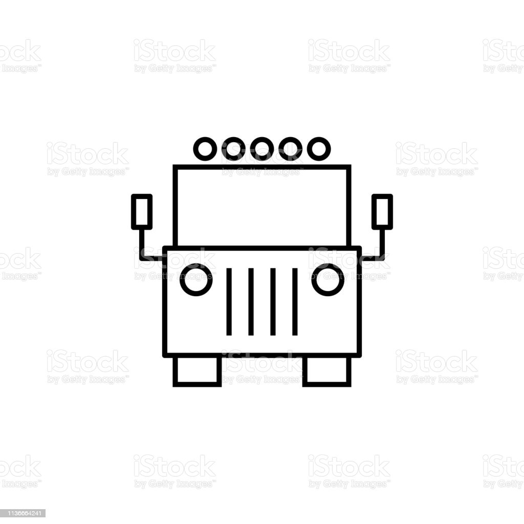 2268e95be6f6 Truck Front View Icon Can Be Used For Web Logo Mobile App Ui Ux On ...