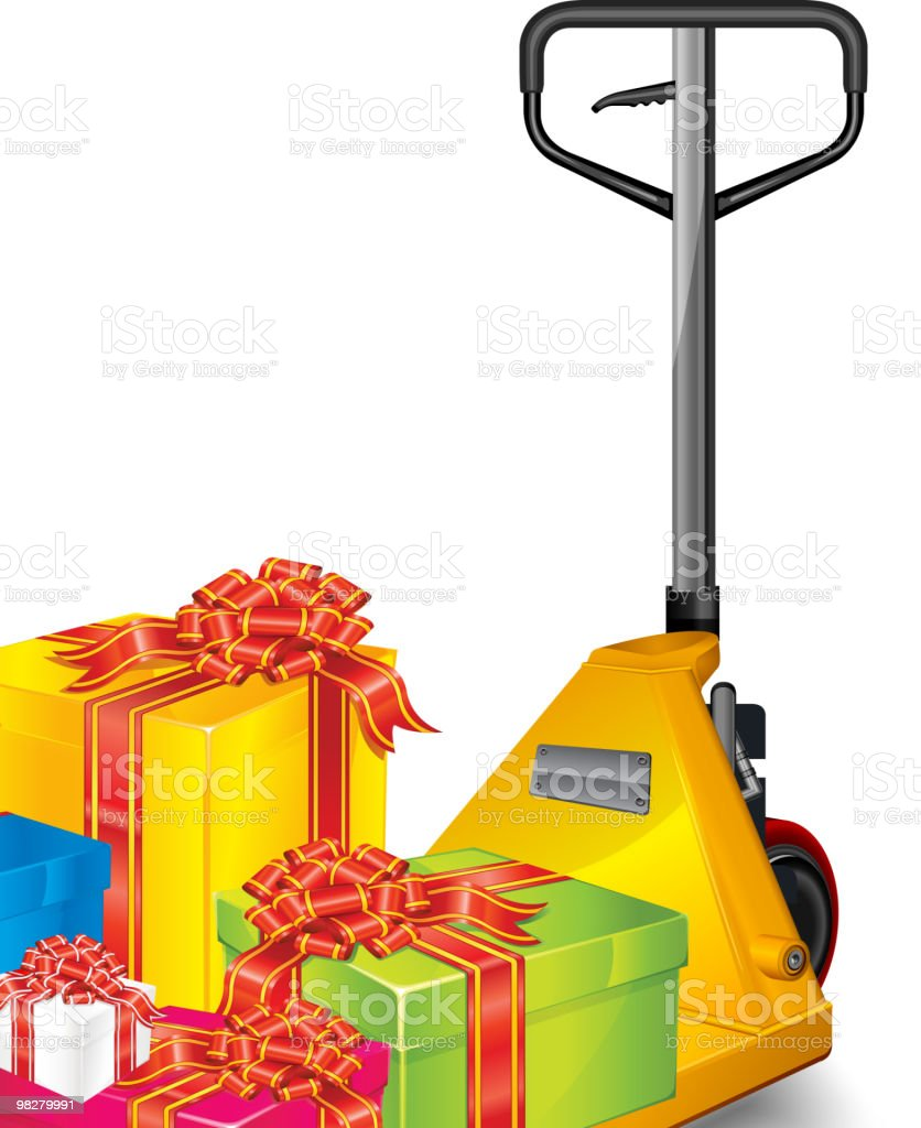 Truck & gifts royalty-free truck gifts stock vector art & more images of blue