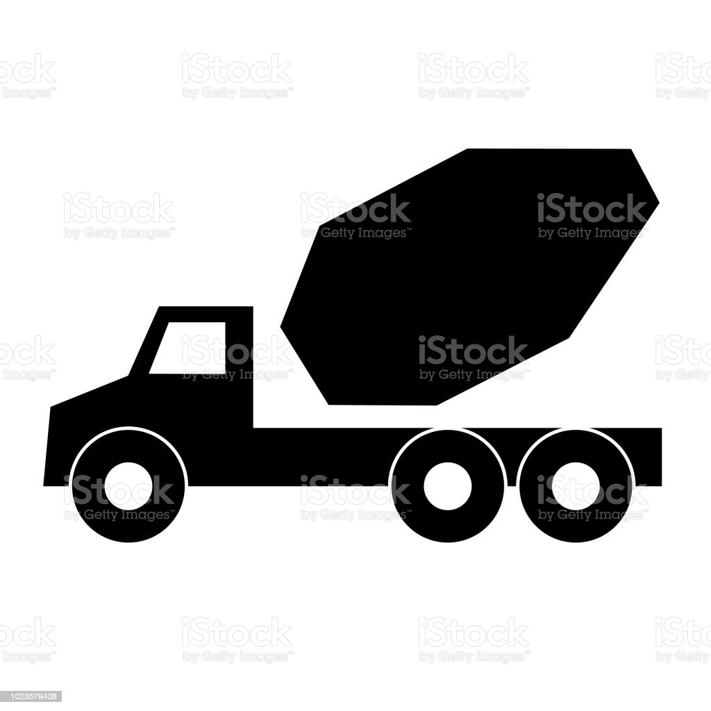 Truck icon transport - vector illustration symbol transportation. Car...