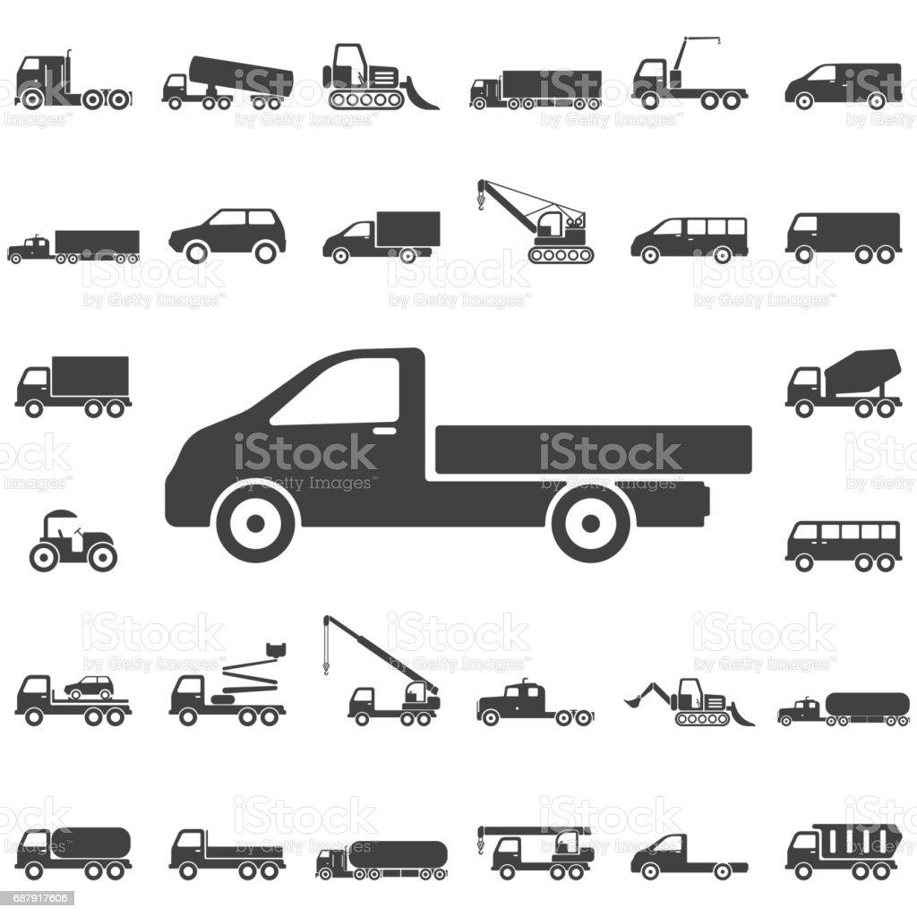 Icono de camión - ilustración de arte vectorial