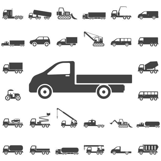ilustraciones, imágenes clip art, dibujos animados e iconos de stock de icono de camión - conductor de autobús