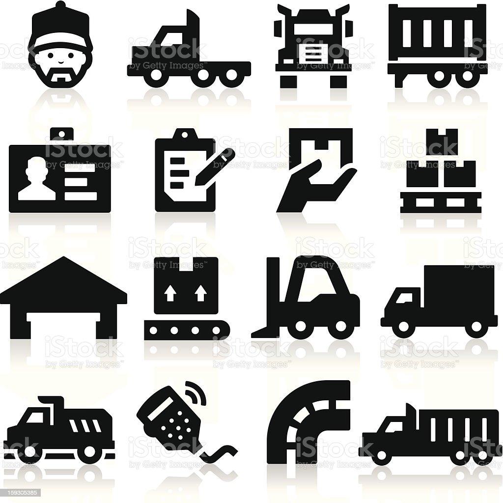Iconos de camiones - ilustración de arte vectorial