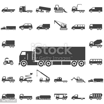 Truck Icons. Transport icons universal set for web and mobile