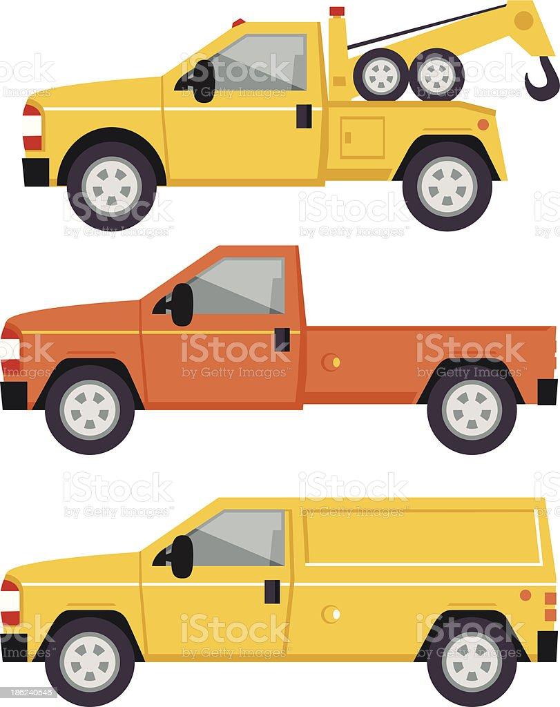 Truck Illustration - flat style vector art illustration