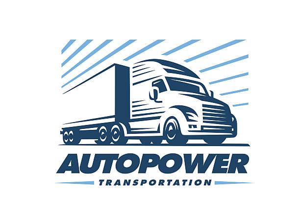 Truck illustration on white background. vector art illustration
