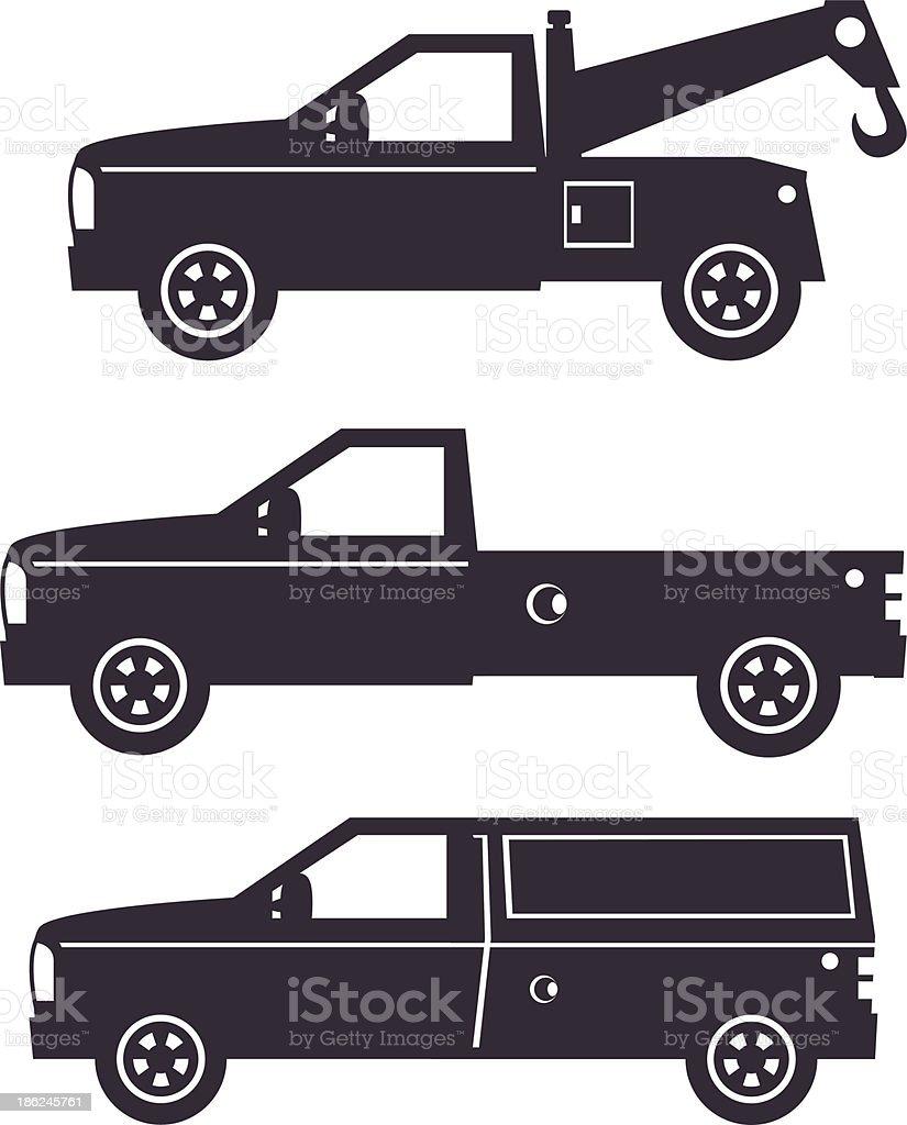 Truck Illustration - one color vector art illustration