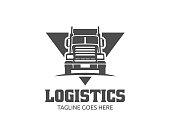 A template of Truck icon, cargo icon, delivery cargo trucks, Logistic icon
