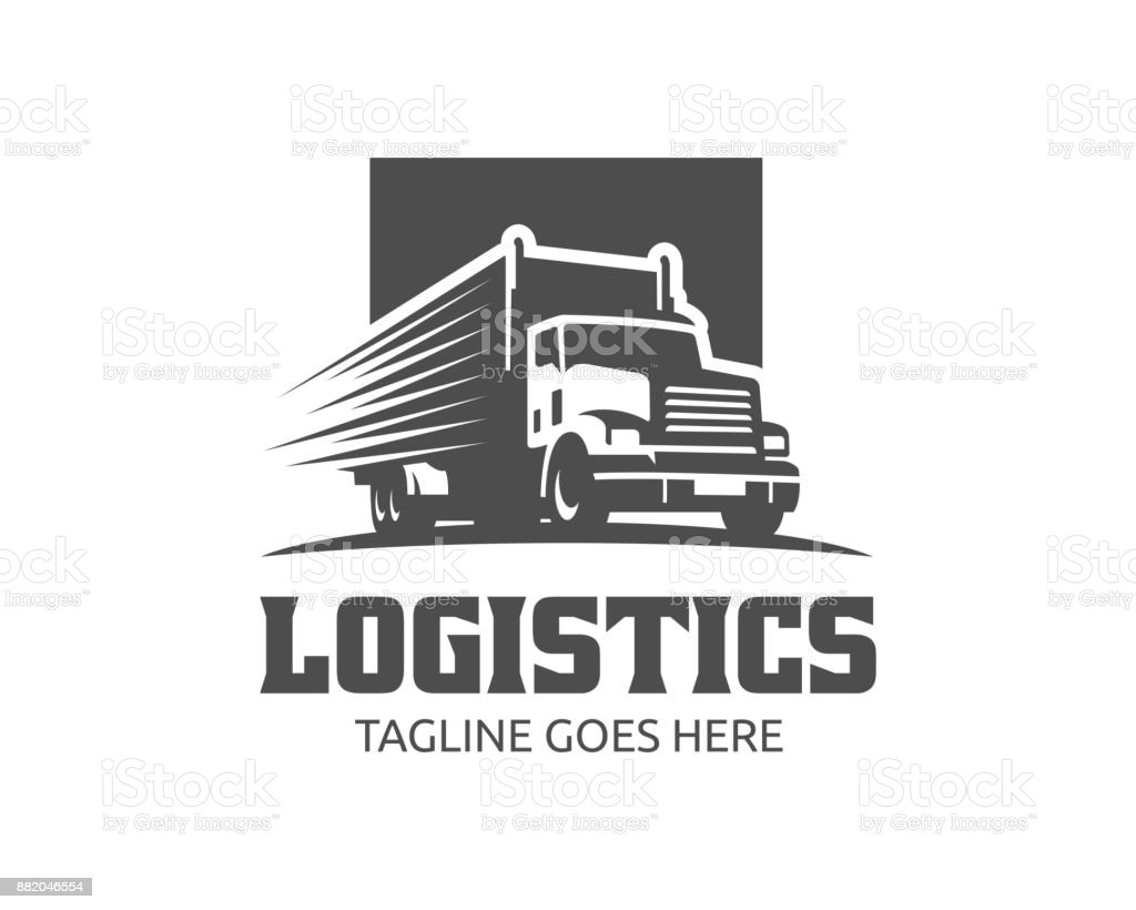 Truck illustration template, perfect for delivery, cargo and logistic business vector art illustration