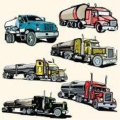 Truck Illustrations XIX: Tankers (Vector)