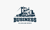 istock Truck logo designs template vector, cargo logo, delivery, Express Logistic 1300399968