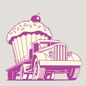 Truck Moving Giant Cupcake