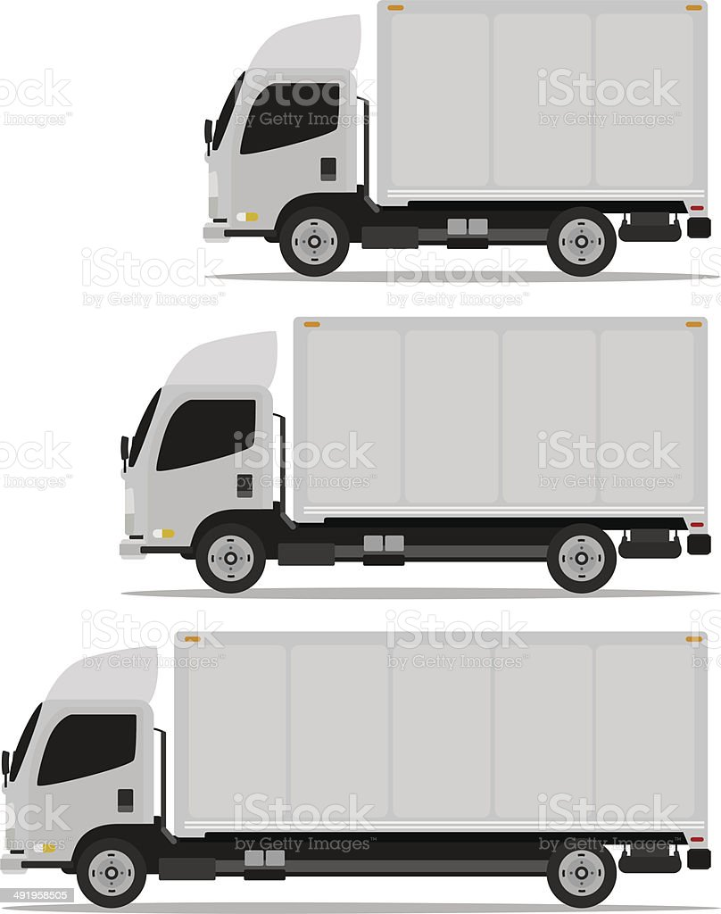 truck set vector art illustration