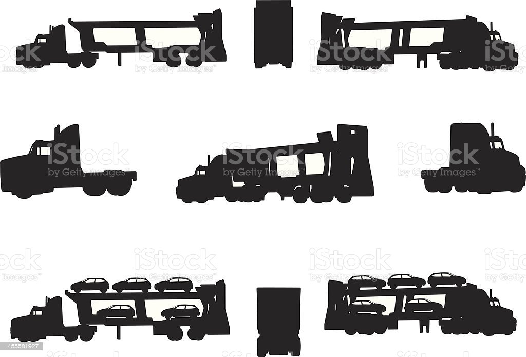 Truck shapes royalty-free stock vector art