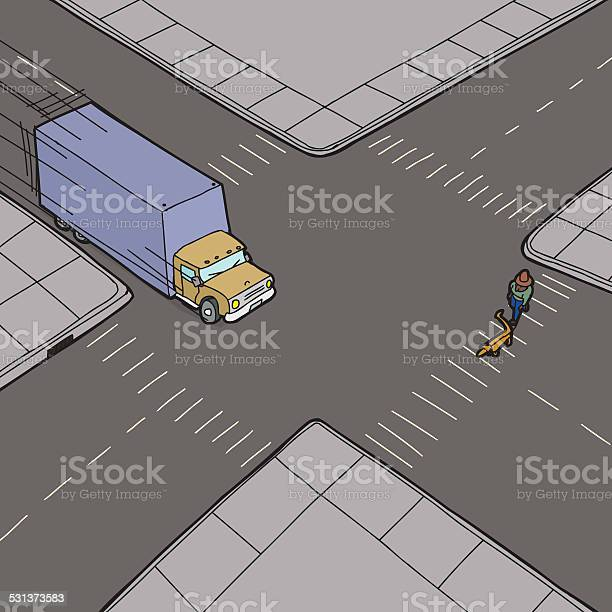 Truck speeding and person on street vector id531373583?b=1&k=6&m=531373583&s=612x612&h=fi xlmj0pv2gt2hwa2npwvgpzadfuec6zpnb0neemxi=