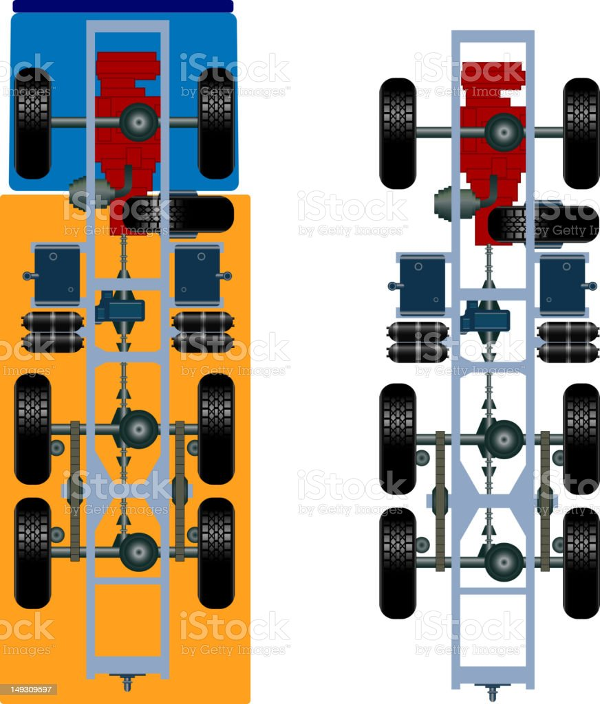 truck suspension royalty-free stock vector art