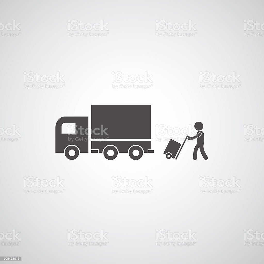 truck symbol vector art illustration