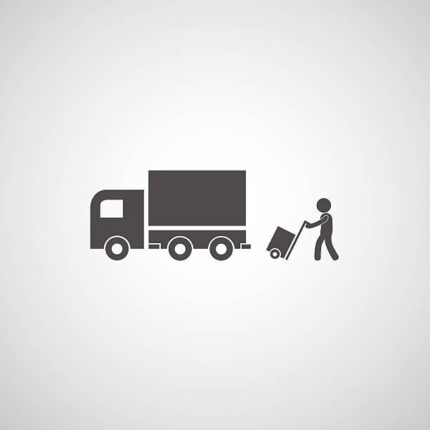 トラックのシンボル - 新居点のイラスト素材/クリップアート素材/マンガ素材/アイコン素材