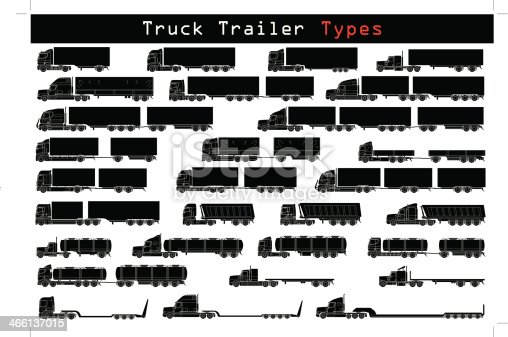 truck trailer types stock vector art more images of business 466137015 istock. Black Bedroom Furniture Sets. Home Design Ideas