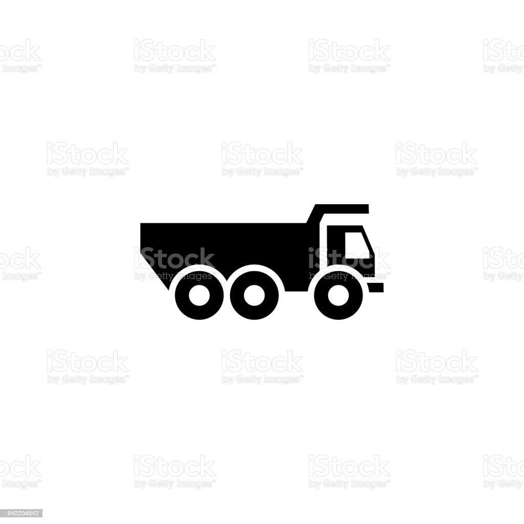 Truck transport vector icon vector art illustration