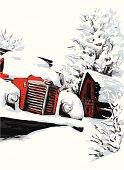 Truck Under Snow