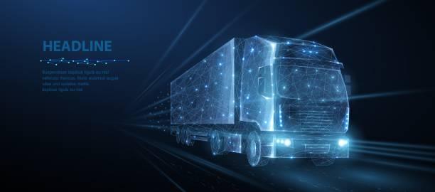 ciężarówka. - przewóz stock illustrations