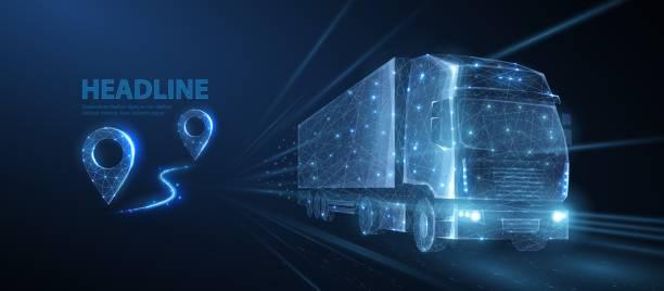 Truck. vector art illustration