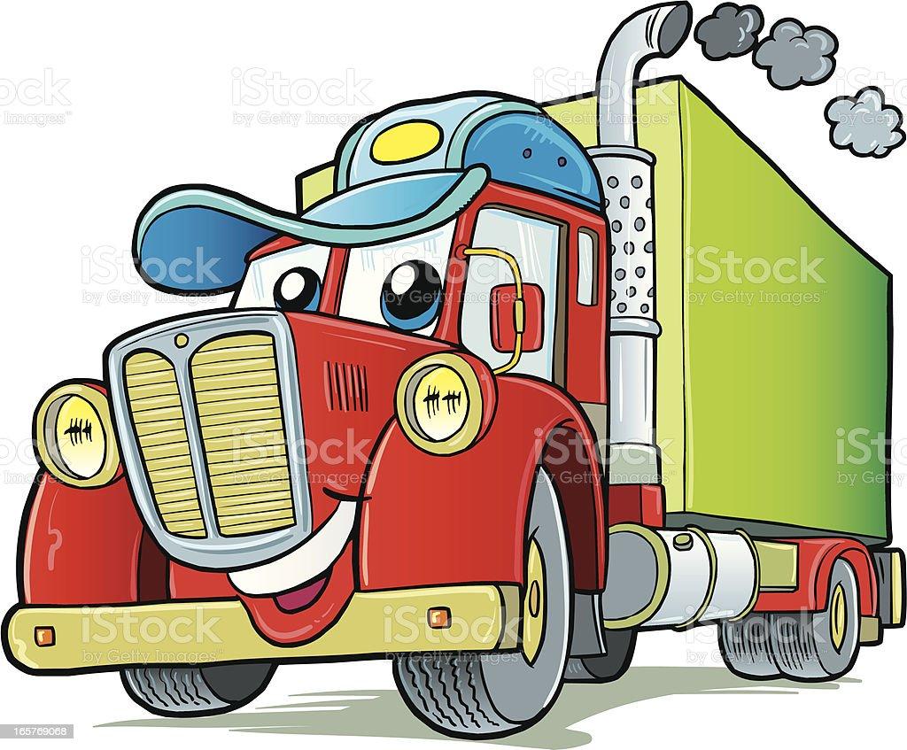 Truck vector art illustration