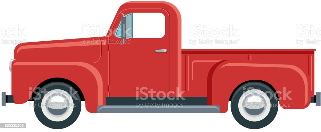 royalty free vintage red pickup truck clip art vector images rh istockphoto com pick up truck clip art images pickup truck clip art images