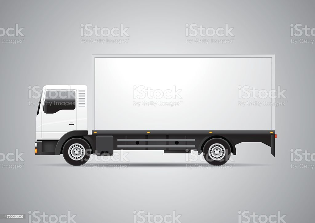 Truck - Vector vector art illustration
