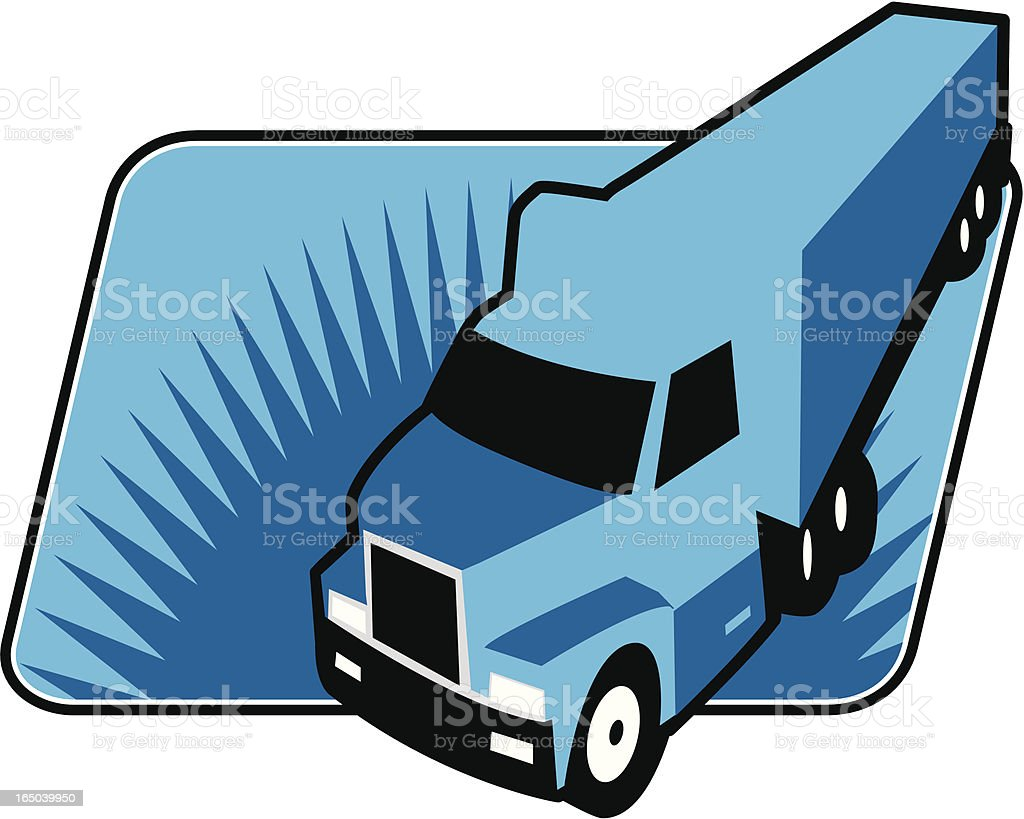 trucking on royalty-free stock vector art