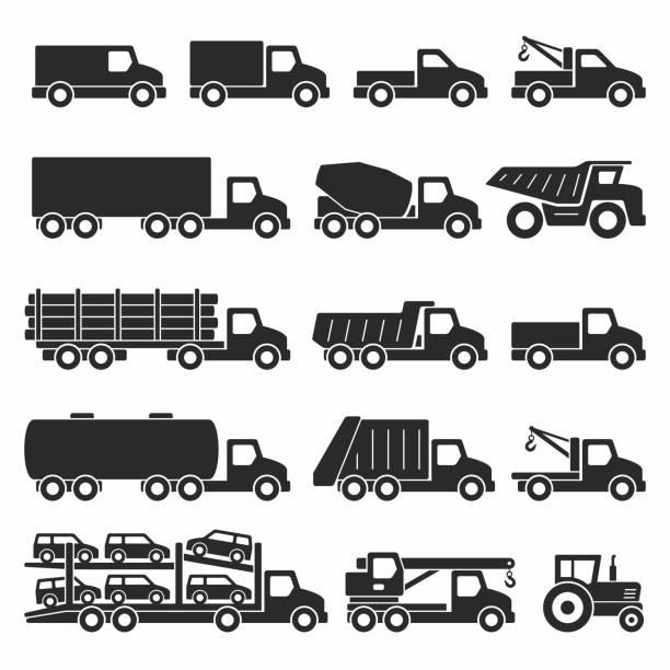 bildbanksillustrationer, clip art samt tecknat material och ikoner med lastbilar flaggikoner som - traktor pulling