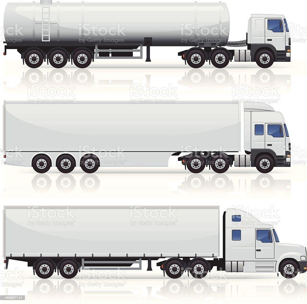 Trucks & Trailers Icons vector art illustration