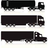 Trucks & Trailers Silhouettes