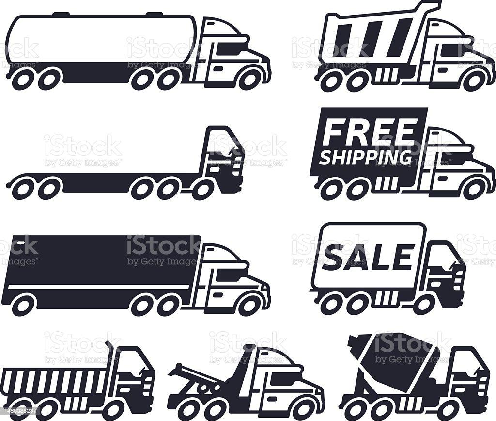 Trucks vector art illustration