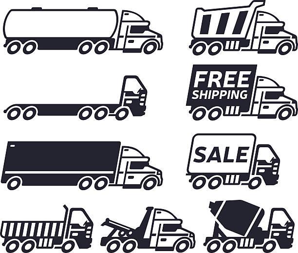 bildbanksillustrationer, clip art samt tecknat material och ikoner med trucks - traktor pulling