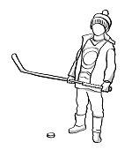 True Canadian Hockey Kid