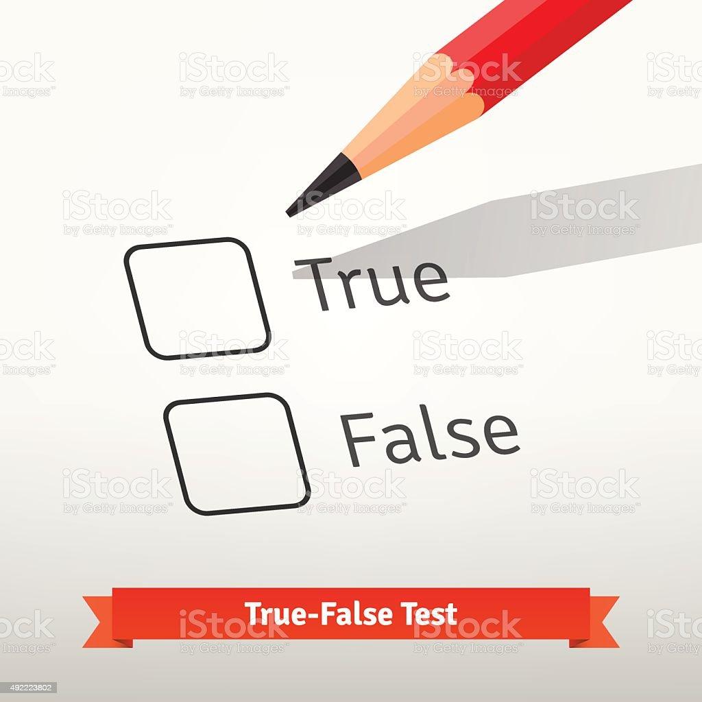 True false test or survey vector art illustration