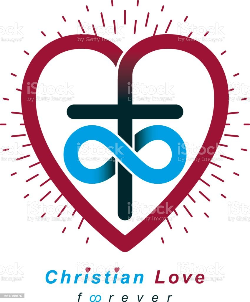 True infinite christian love and belief in god vector creative true infinite christian love and belief in god vector creative symbol design combined with biocorpaavc Images