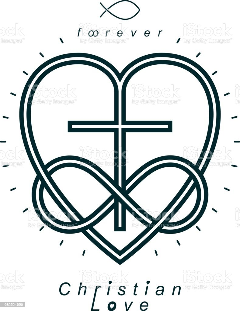 True infinite christian love and belief in god vector creative true infinite christian love and belief in god vector creative symbol design combined with buycottarizona Gallery