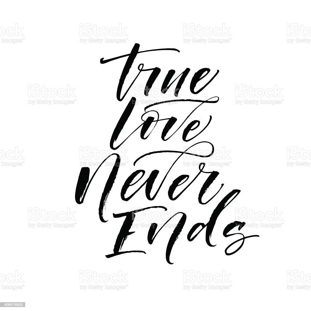 True Love Never Ends Card Stockvectorkunst En Meer Beelden Van
