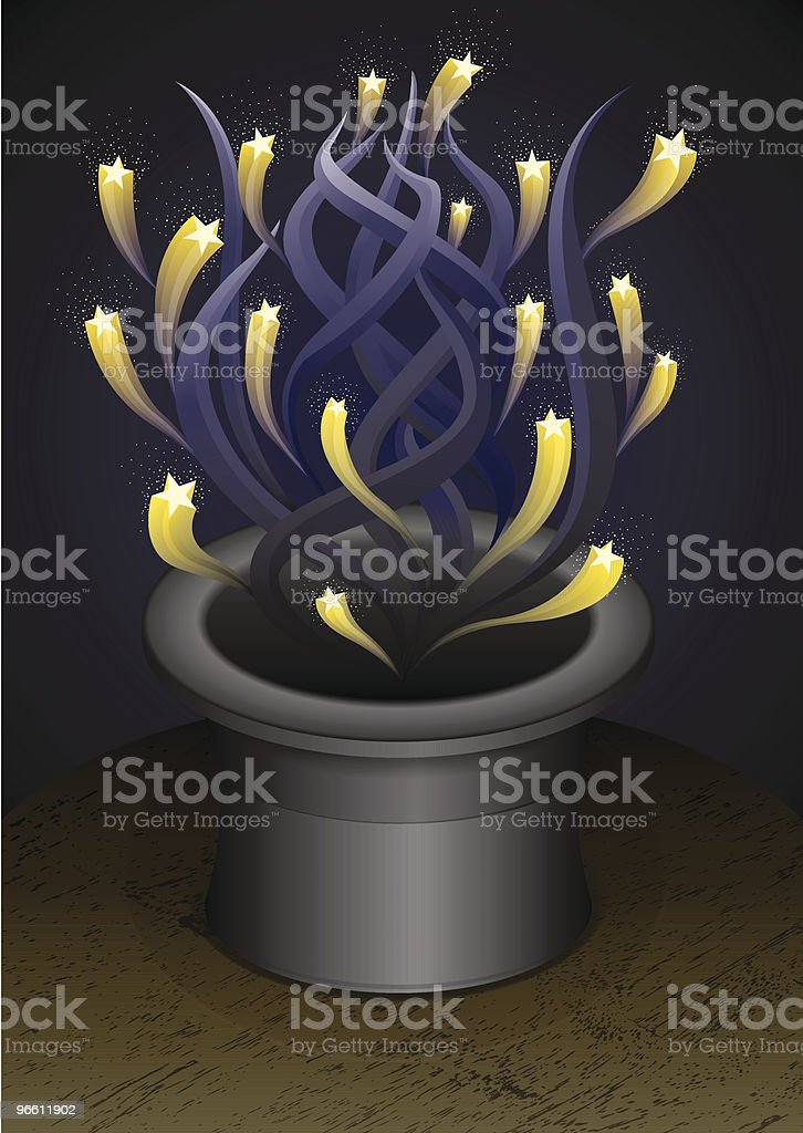 True Magic hat - Royaltyfri Flyga vektorgrafik
