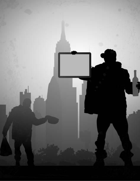 ilustraciones, imágenes clip art, dibujos animados e iconos de stock de trump en la ciudad - trump