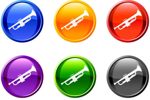"trompete ""lizenzfreie vektorgrafiken - fanfare stock-grafiken, -clipart, -cartoons und -symbole"