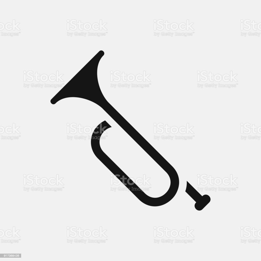Trumpet icon illustration vector art illustration