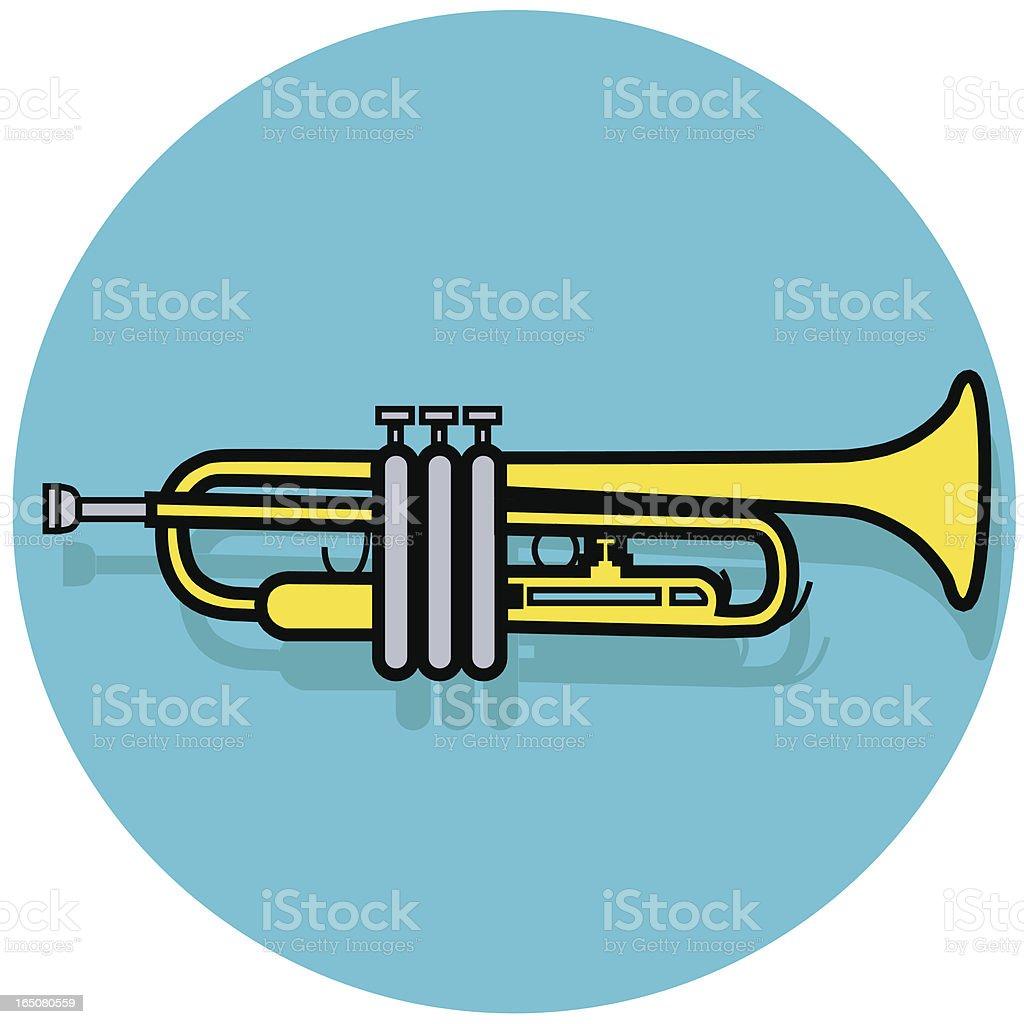 trumpet icon royalty-free stock vector art