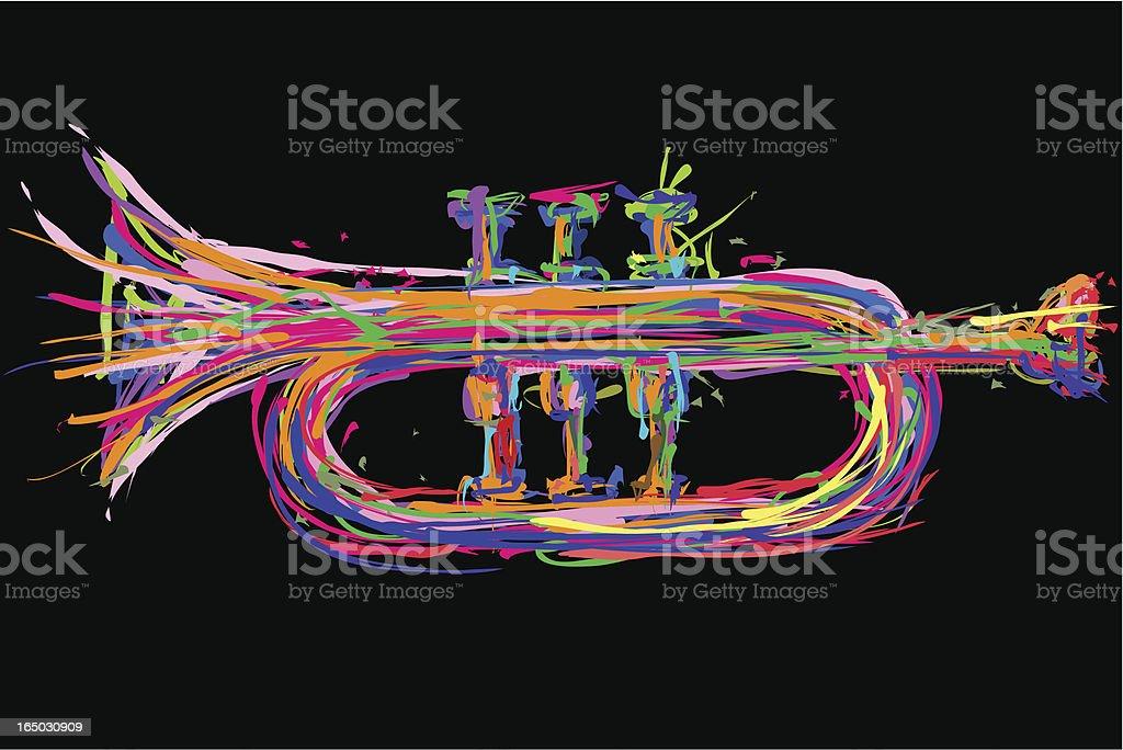 trumpet illustration vector art illustration