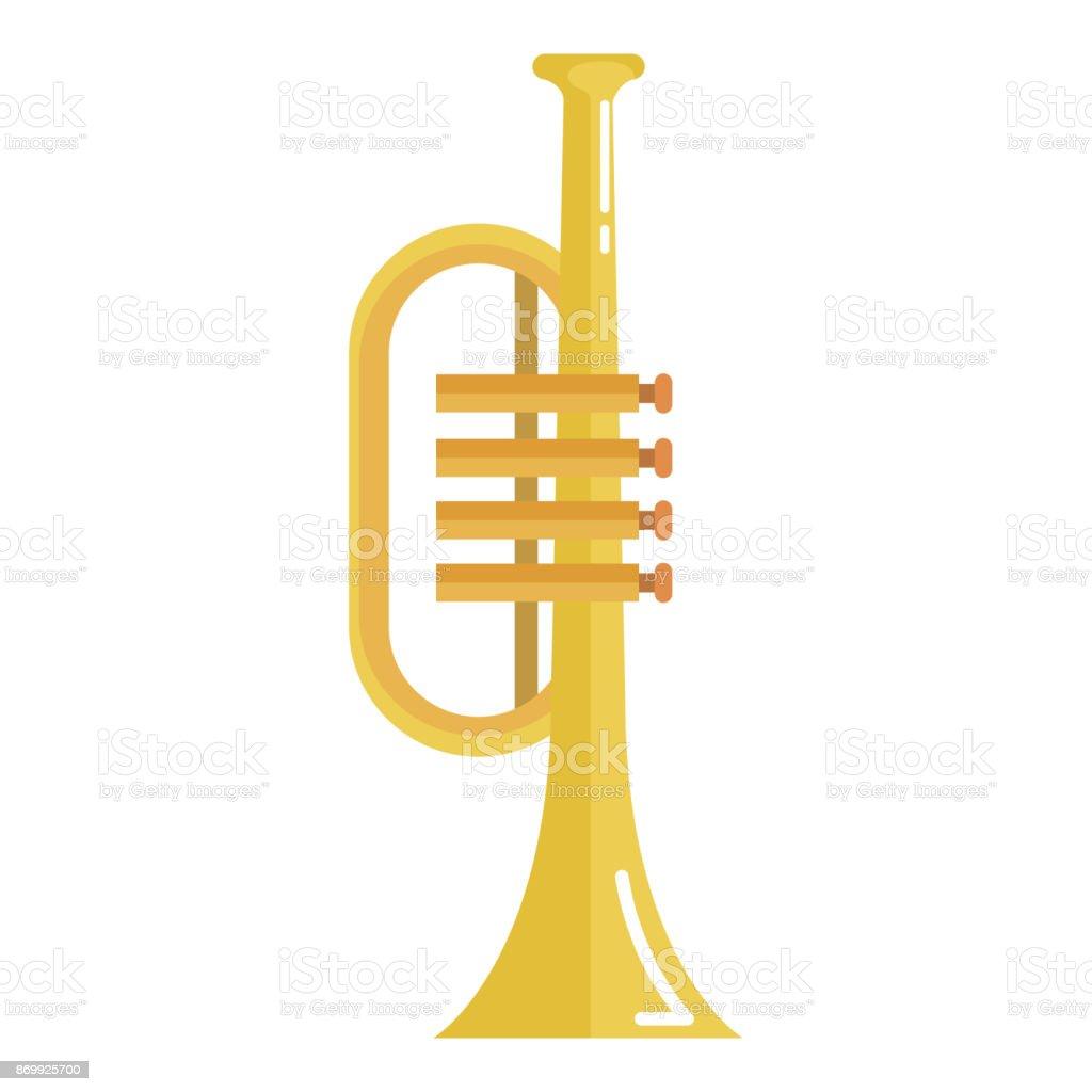 trumpet instrument isolated icon vector art illustration